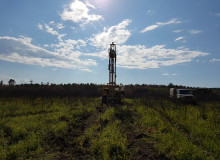 Drilling works at gold mines of ROSSZOLOTO CG